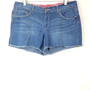 Faded glory cutoff jean shorts plus size 14